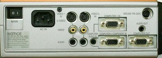 Mitsubishi-XD300U-aansluitingen