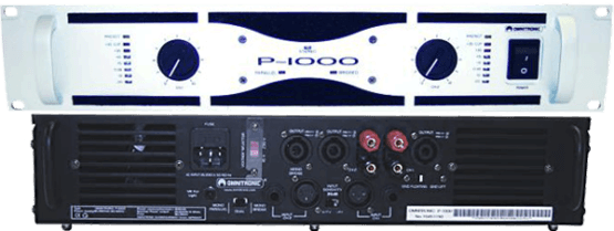 Omnitronic P1000 front en rear