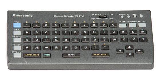 Panasonic WJ-TTL5 Character Generator_W3R8208