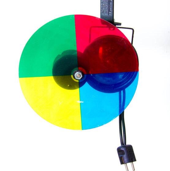 Par36 puntspot met kleurenwiel