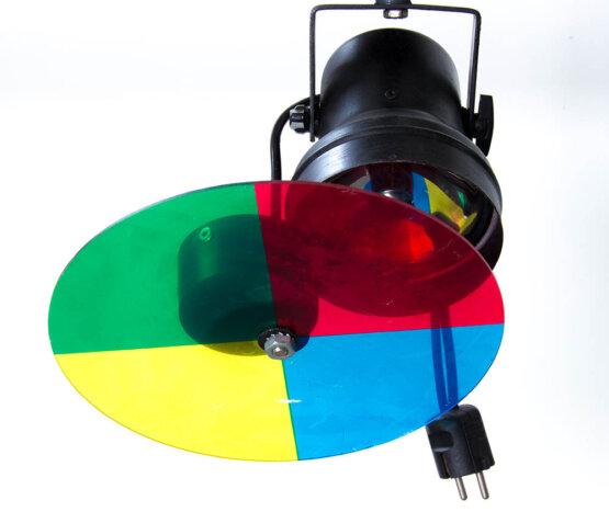 Par36 puntspot met kleurenwiel_W3R8390