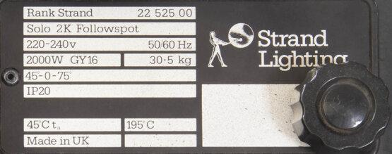 Strand Lighting Solo 2K Followspot_W3R8952